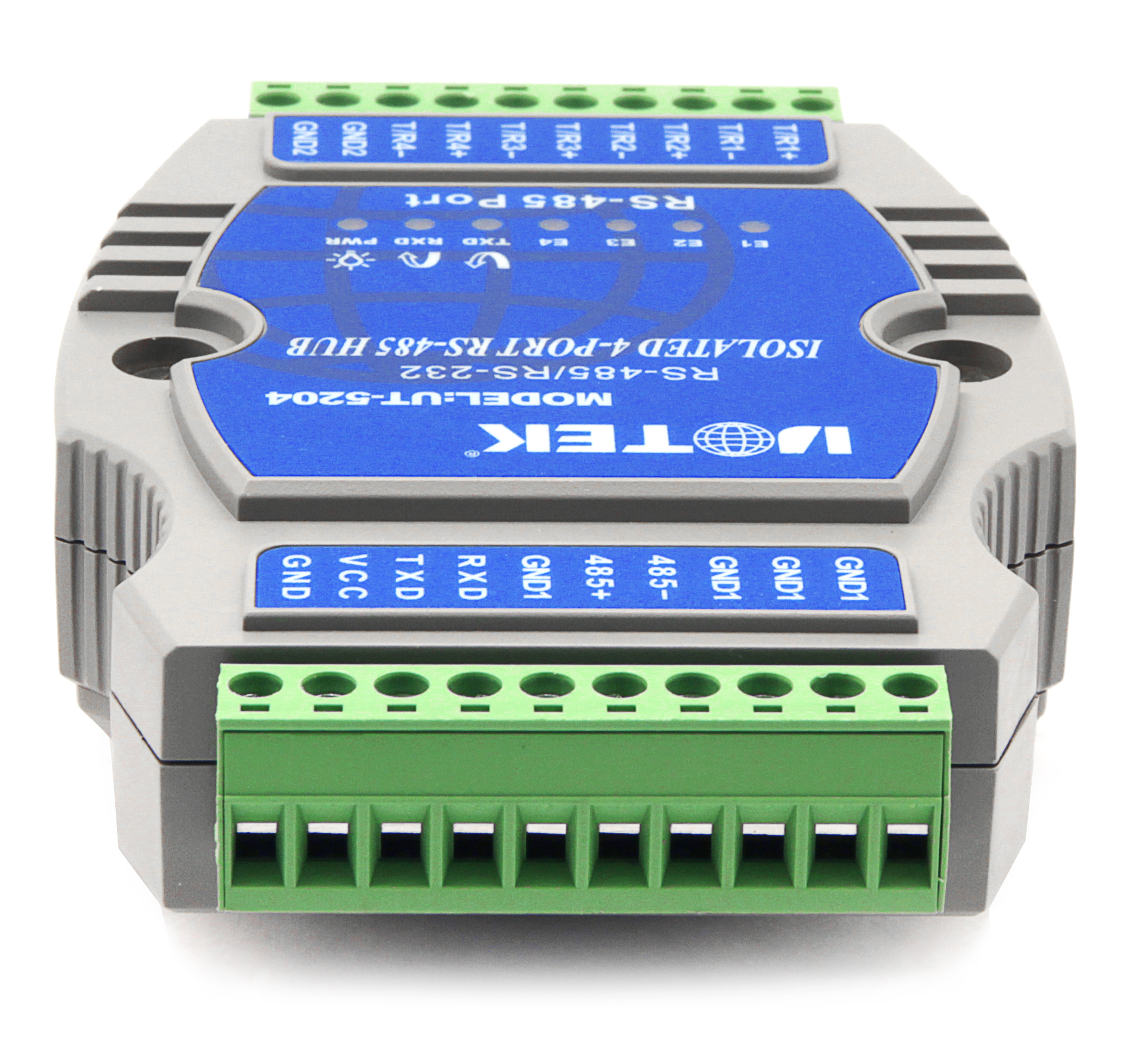 485 Hub 4 Ports Photoelectric Isolation Industrial Lightning Protection 1 Route to 4 Route RS485 Distributor