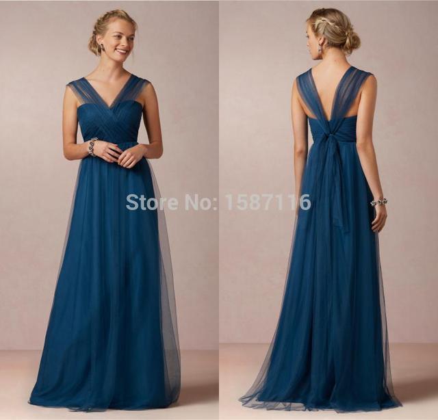 Vestido largo azul barato