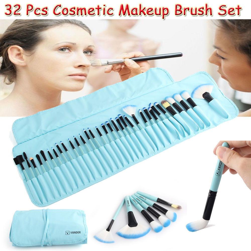 Professional VANDER 32 Pcs Makeup Brushes Set Foundation Face&Eye Powder Pinceaux Cosmetics Eyebrow Shadow Brush & Pouch Bag цена 2017