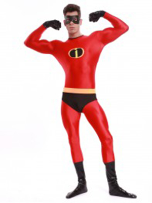 The Incredibles Mr Incredible Spandex Superhero Costume Zentai Bodysuit Halloween Costumes Hot Sale Free Shipping