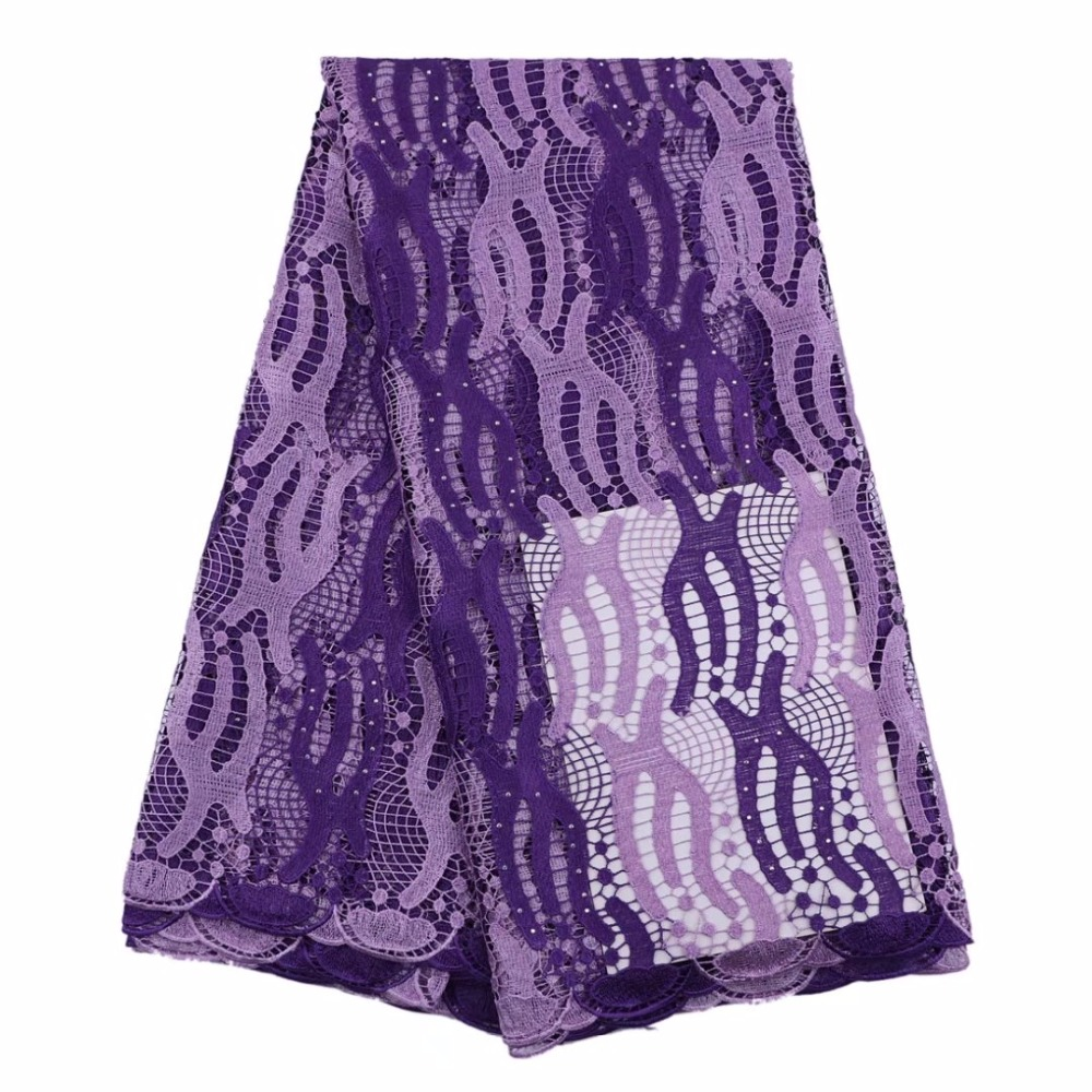 African Guipure Lace Fabric 2017 Africain Guipure Chemical Lace Purple Nigerian Water Soluble Guipure Lace For Wedding African Guipure Lace Fabric 2017 Africain Guipure Chemical Lace Purple Nigerian Water Soluble Guipure Lace For Wedding