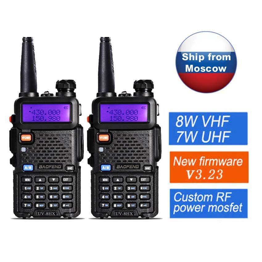 2 st Original Baofeng Walkie Talkie UV-5R 8W Portabel Radio Talkie UV-8HX, Bättre än Baofeng UV 5R GT-3TP UV-5RA UV-5X UVB2