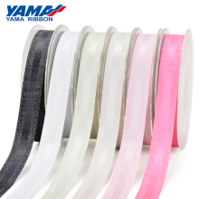 YAMA Silver Purl Grosgrain Edge Satin Ribbon 9mm 16mm 25mm 38mm 100 yards/roll 1 1.5 inch Woven Crafts Gift Packing Hair Bow