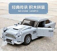 2018 New Creator James Bond Famous Car Aston Martin DB5 Technic Model Compatible With Legoings Bricks Building Blocks Toys