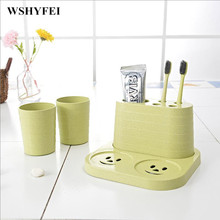 Коробка для зубных щеток, чашка для хранения в ванной комнате, две съемные стоматологические приборы, коробка для зубных щеток, креативные принадлежности для ванной комнаты