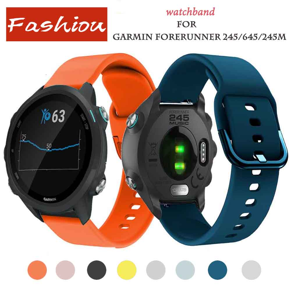 Silicone Watch Strap For For Garmin Forerunner 245/645/245M Samsung Galaxy Active Galaxy 42 Band 20mm Garmin Vivoactive 3