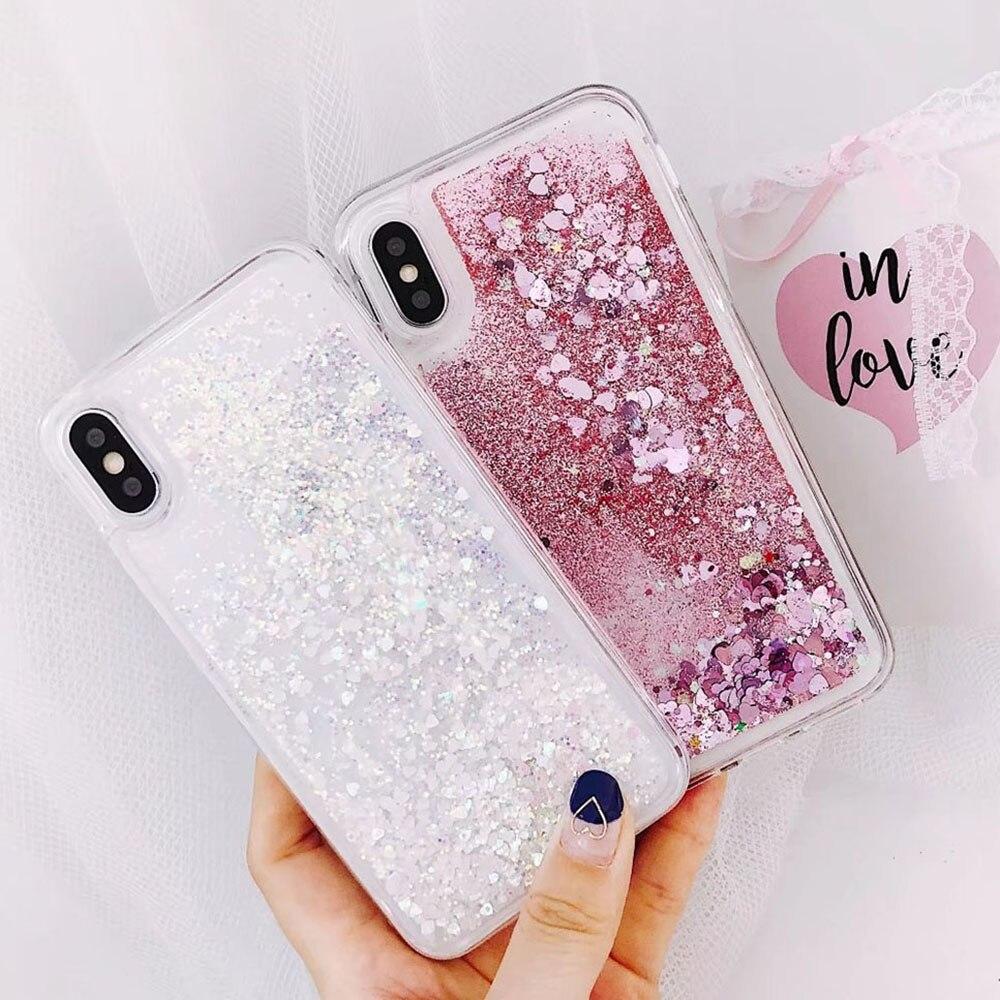 Galleria fotografica Luxury Glitter Soft Cover For Samsung Galaxy S7 Edge Case For Samsung S8 Cover S9 Plus Case Dynamic Liquid Quicksand Cases