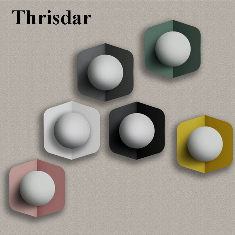 Thrisdar 5W Modern Creative LED Wall Lamps Sunflower Indoor Wall Light For Living Room Bedroom Bedside Home Lighting Fixture