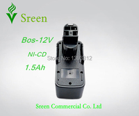New 12V Ni CD 1500Ah Cordless Drill Power Tools Battery Replacement for Bosch 2 607 335 055 BAT011 2 607 335 151