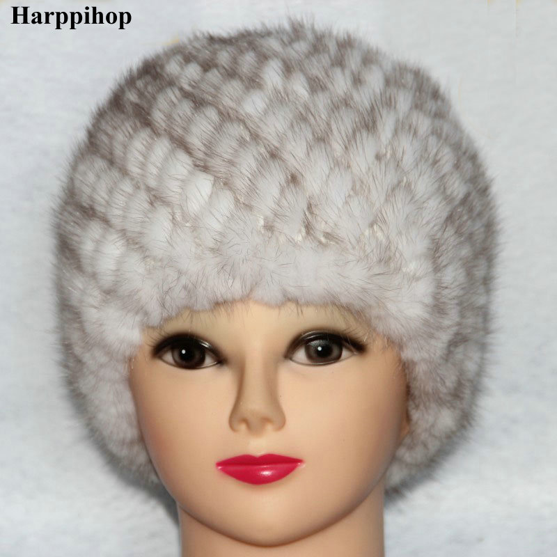 Mink Hair Hat Quality Quinquagenarian Women Women's Fur Hat Autumn And Winter