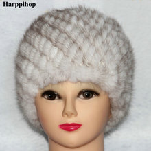 Mink hair hat quality quinquagenarian Women womens fur hat autumn and winter