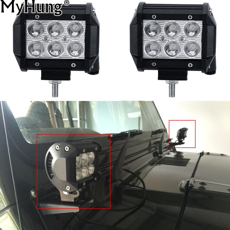 LED Work Light Bar Offroad 12V Car ATV Trailer Camper Motorcycle Truck Boat Wagon SUV Driving Fog Lamp Car Styling 2pcs per set 50 offroad 324w led light bar bumper roof styling refit headlight 12v 24v car truck suv 4x4 trailer wagon camper pickup lamp