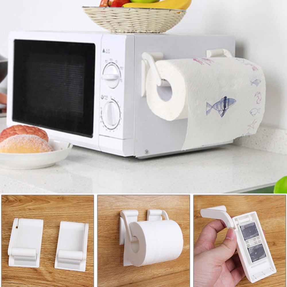 Magnetic Reel Holder Towel Napkin Rack Refrigerator Side Wall Roll Paper Stand