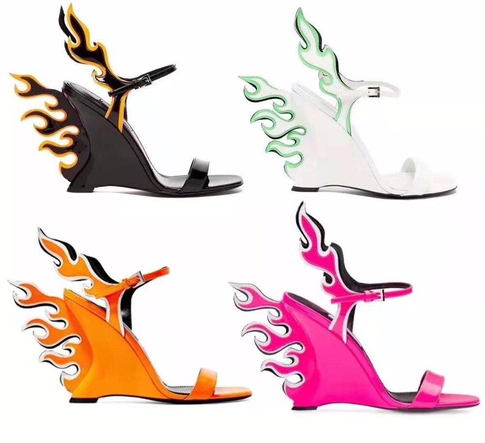Étrange Talons Sandales Soirée Flamme Dames Cuir Mix Conception Chaussures Boucle Picture Sexy De As Compensés Picture Couleur Femmes En Brevet as Escarpins Bracelet ZAqWnSW