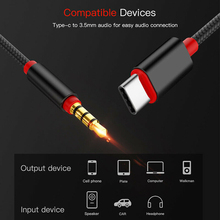 3.5mm Jack male Car AUX Audio Adapter AUX Cable 1M USB Type C to 3.5mm AUX Cable For Samsung S9 HUAWEI mate 20  For Car Speaker
