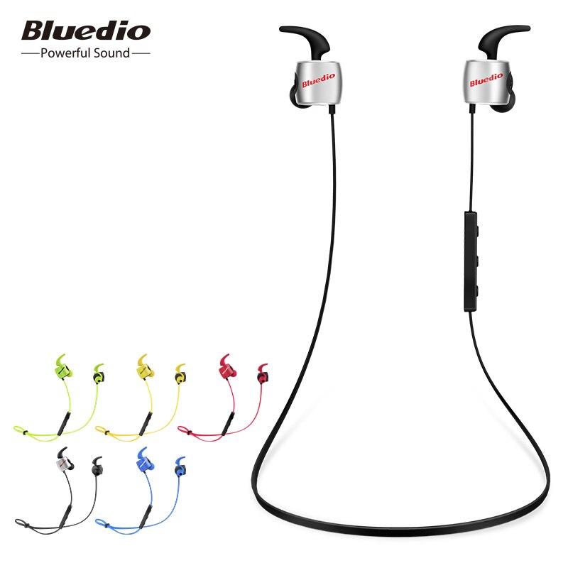 Bluedio TE deportes inalámbrica Bluetooth auricular con micrófono incorporado a prueba de sudor en la oreja auricular para teléfono celular estilo colorido