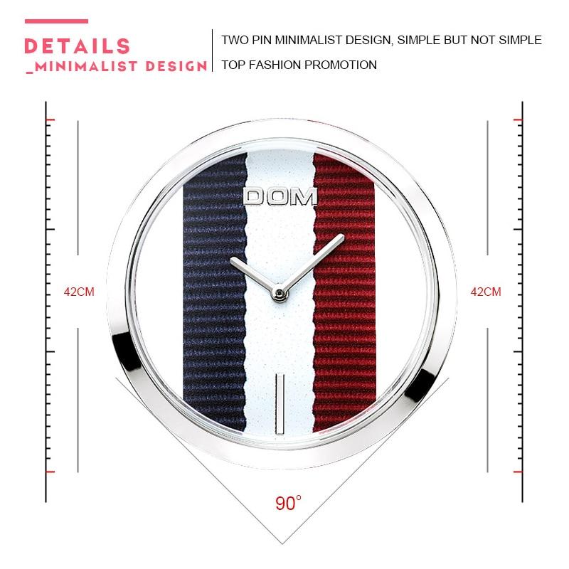 kvinnor titta på DOM Luxury Brand Fashion Enkla Casual Quartz - Damklockor - Foto 3