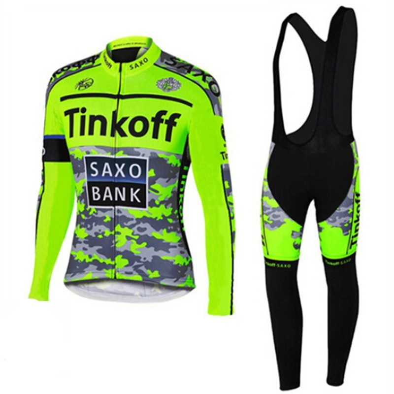 где купить 2017 Pro Team Ropa Ciclismo Invierno/Winter Thermal Fleece Tinkoff Cycling Jersey MTB Bike Long Sleeve Clothing Maillot Ciclismo по лучшей цене