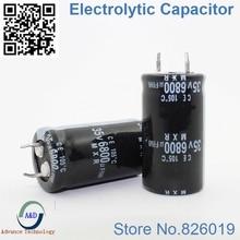 1pcs/lot 35v 6800uf Radial DIP Aluminum Electrolytic Capacitors size 22*40 6800uf 35v