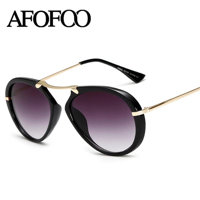 AFOFOO Mode lunettes de Soleil Femmes Lunettes De Luxe Dames de Concepteur  de Marque Miroir lunettes de Soleil Vintage UV400 Femme Shades Lunettes 3ac49c3bdffc