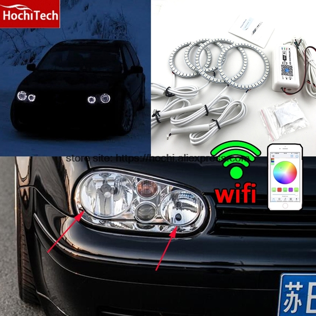 Hochitech Excellent Rgb Multi Color Halo Rings Kit Car Styling For