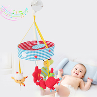 Newborn Rotating Bed Bell Mobile Music Baby Toys Cute Pink Rabbit Bee Developing Rattles 0 12 Months Bed Toys