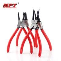 MPT Set Of 4pcs 7 Inch Circlip Pliers Internal External Curved Straight Tip Circlip Plier Snap