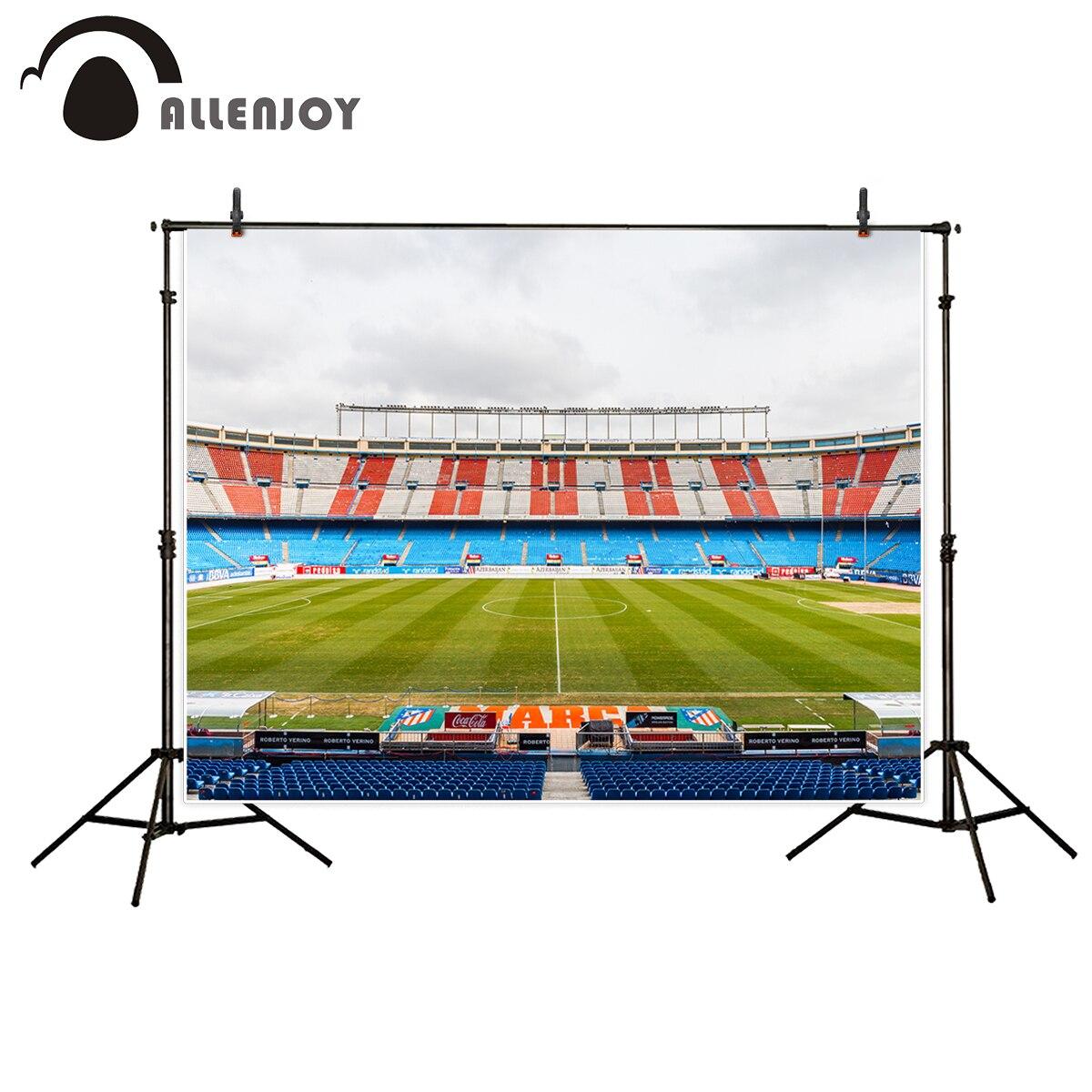 Allenjoy photocall football field custom Birthday Wedding Party backdrop for weddings fond for studio photography