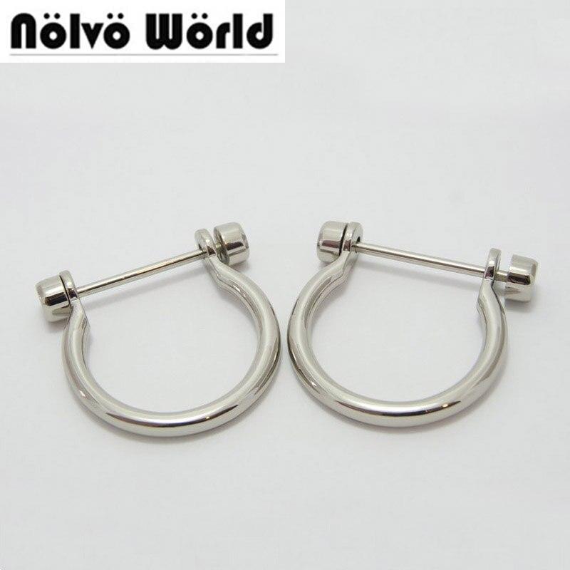 33*40mm(1-1/4 inside) bags handbags Big D ring screw open metal big arch d shackles accessory 50 pieces