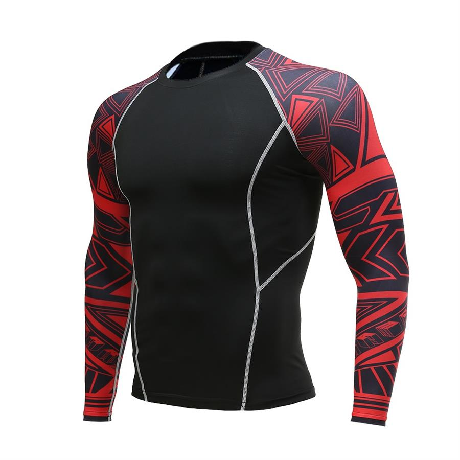 Rashgard Men Long Sleeve Run Tights T-shirt Sports Men's Running Fitness Sportswear Bodybuilding Sports Men's Compression Shirt