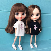 Handmade outfit for barbie,fashion doll clothes pullip Doll Accessories Pink leopard T-shirt for blyth clothing azone OB24(China)