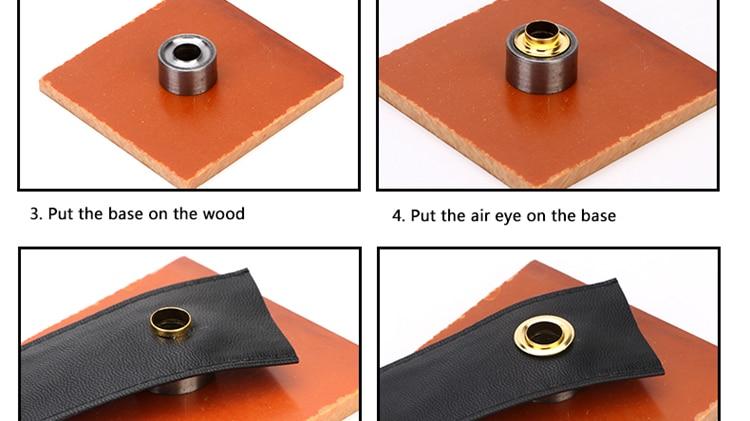 4 para ojales aufnähen diámetro 8 mm Orange
