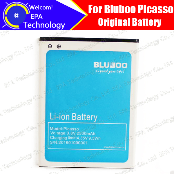 Bluboo Picasso Battery 100% Guarantee Original Tested High Quality High Capacity 2500mAh Smart Phone Battery for Bluboo Picasso