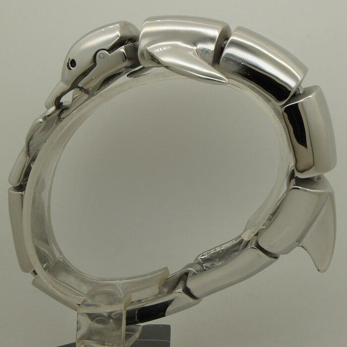 Bracelet de vélo homme/garçon en acier inoxydable 316L extrêmement brillant - 6