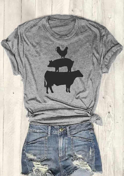 Detail Feedback Questions about Cock Pig Cow Short Sleeve T Shirt Women  Funny Graphic Basic tees Fashion Clothes t shirt tops drop ship on  Aliexpress.com ... 9f9ae1f42b0d