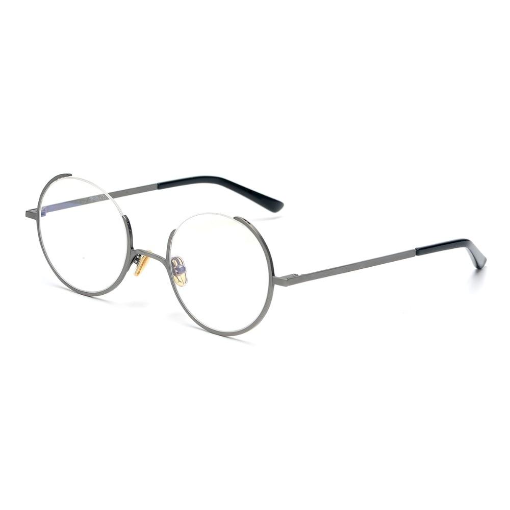 Rétro Rond Lunettes Cadres Hommes Optique Transparent Prescription Lunettes Cadre Léger oculos de grau pour les Femmes