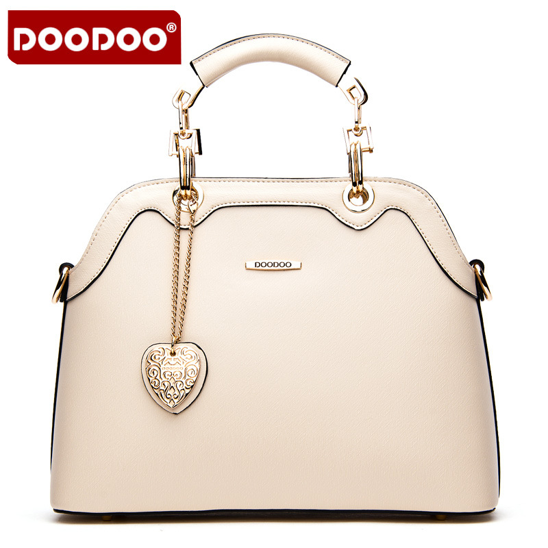 DOODOO 2017 Women Messengers Handbags Solid Genuine Leather Totes Soft material
