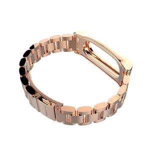 Image 2 - Para mi banda 2 pulseira de metal original para xiaomi mi banda 2 pulseira de aço inoxidável pulseiras substituir acessórios