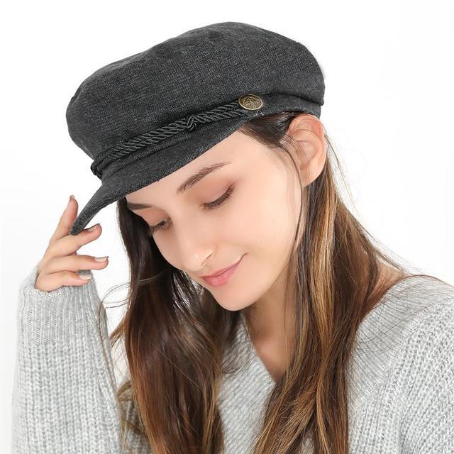 246d206d2 US $5.05 35% OFF|Vbiger Women Flat Top Hat Chic Beret Cap Foldable Newsboy  Hat Classic Flat Top Peaked Cap Casual Outdoor Cap-in Newsboy Caps from ...