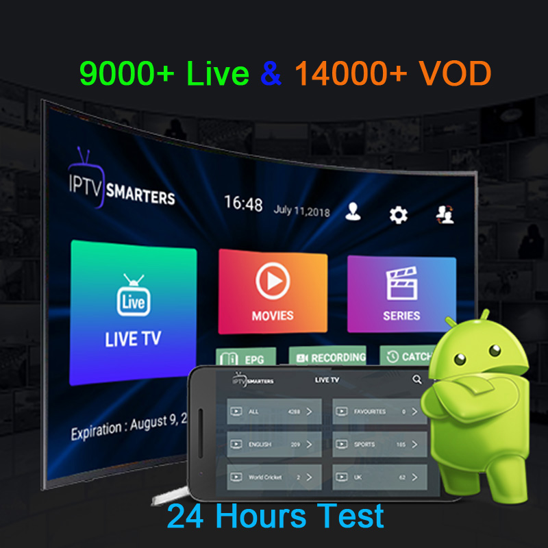 IPTV Subscription X96 max Android tv box Italy Albania Germany UK Sweden Nordic indian 9000 Live14000