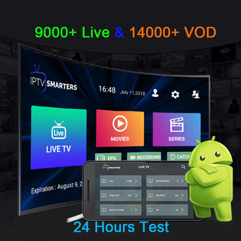 IPTV Subscription X96 max Android tv box Italy Albania Germany UK Sweden Nordic indian 9000 Live14000 VOD m3u mag iptv Smarters
