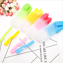 New Baby Bottle Brush Cleaner Spout Cup Glass brush Teapot Washing Cleaning Tool Brush With Sponge(China)