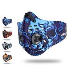 Activated Carbon Men Women Cycling Winter Face Mask Ski Masks Running Filter Snowboard Balaclava Motorcycle Buff Bike