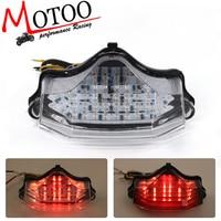 Motoo free shipping Motorcycle LED Tail Brake Turn Signal Integrated Light for Yamaha FZ600 FZ6 04 09