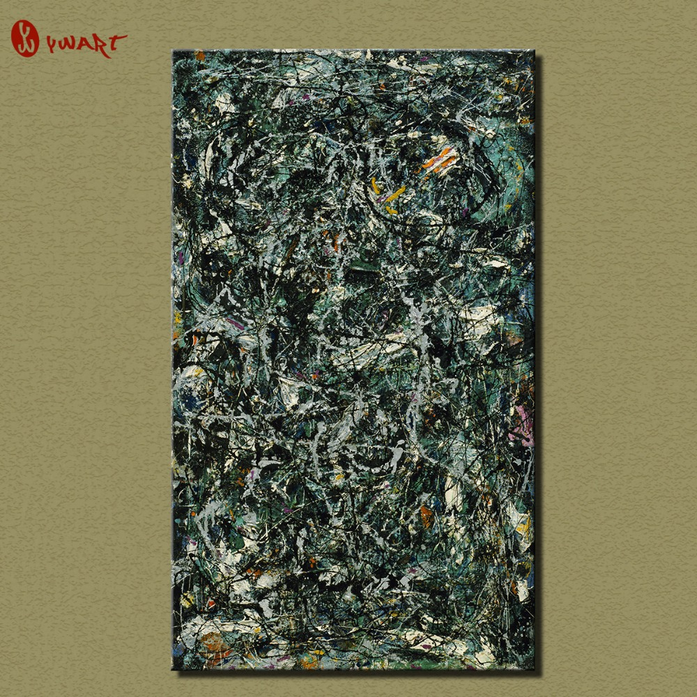 Online buy wholesale jackson pollock canvas from china for Large prints for sale