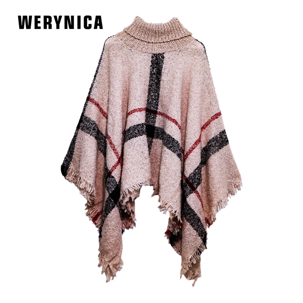 Werynica 2018 New Winter Triangle Scarf For Women Brand Designer Shawl Plaid Scarves Blanket Wholesale Dropshipping For Women