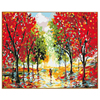 PHKV Abstract Autumn Landscape Painting By Number DIY Oil Paint Canvas Art Lovers Walks In The