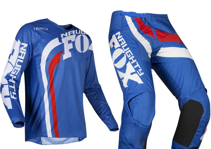 Racing 2019 MX 180 Cota Blue Jersey Pants Adult Motocross Gear Set Sport Cycling Kit