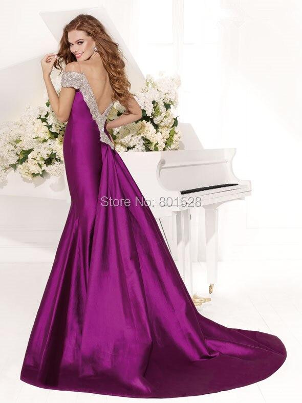 2016 Diseño Sirena Vestidos Pesado Último Noche Púrpura Im328 VGzSpqLMU