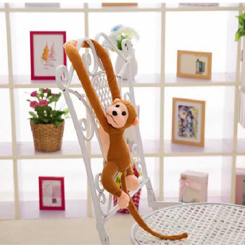 60 centimetri Carino Bambola Lungo Braccio Della Scimmia Coda Farcito Animale di Peluche Giocattoli Per Bambini Placare Bambino Tende Scimmia Giocattoli Regali Per I Bambini bambini